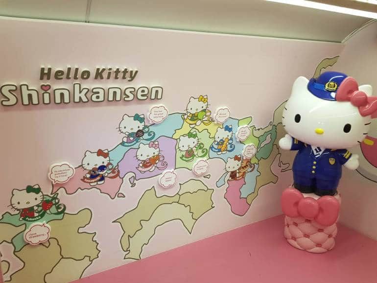 Hello Kitty Shinkansen Photo Corner