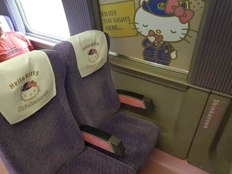 Hello Kitty Shinkansen Seats