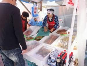 Wajima Market Fish Stall
