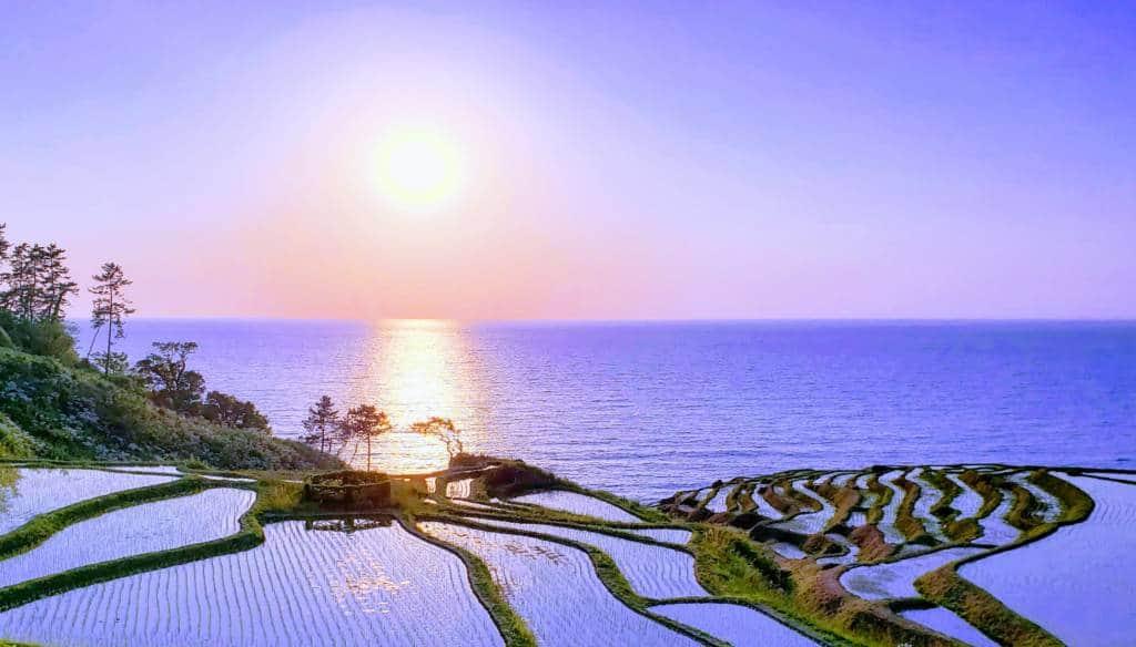 Wajima Senmaida Sunset