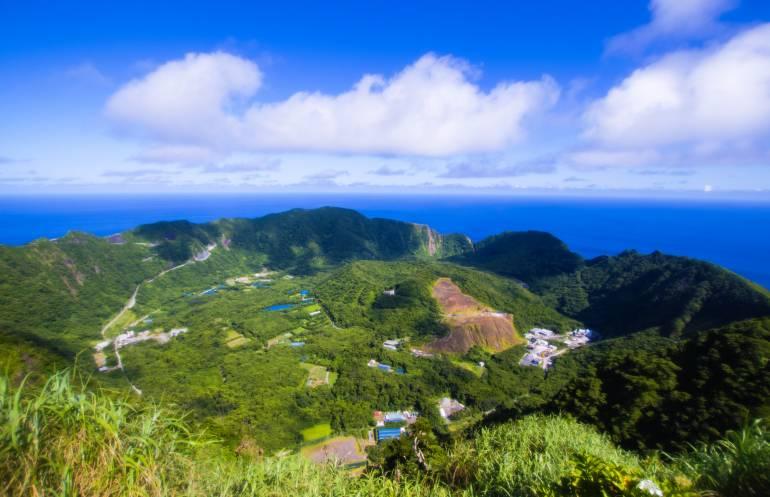 aogoshima volcano island