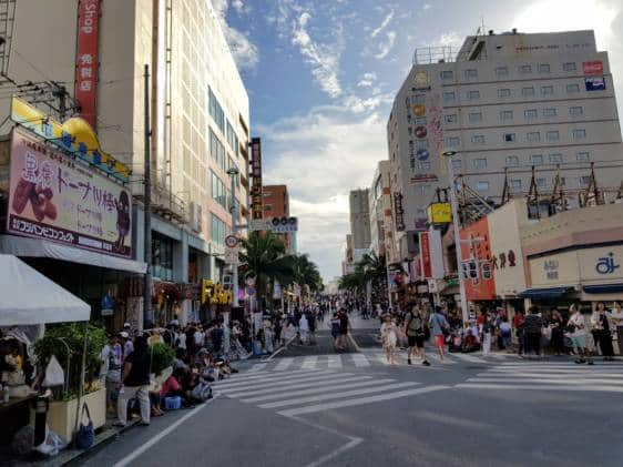 Kokusai Dori, Naha. Looking west.