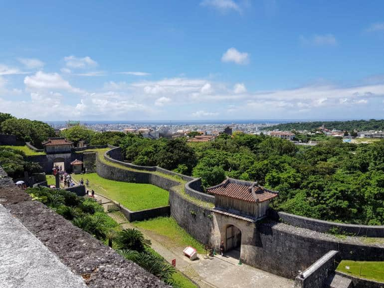View from the ramparts of Shuri Castle