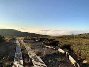 above clouds over arimine dam