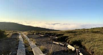 above clouds over arimine dam