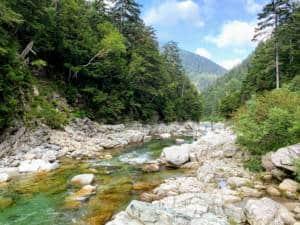 kurobe river near yakushizawa hut