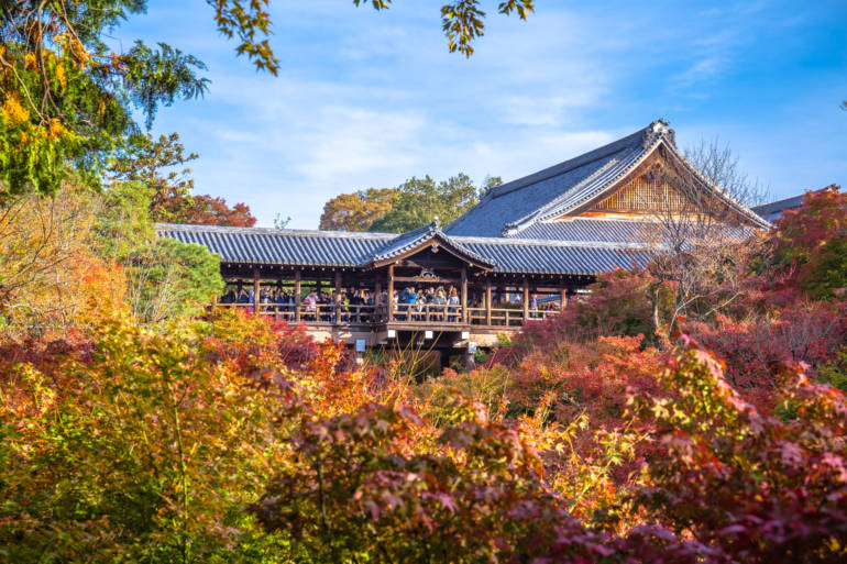 autumn leaves at Tofukuji Temple