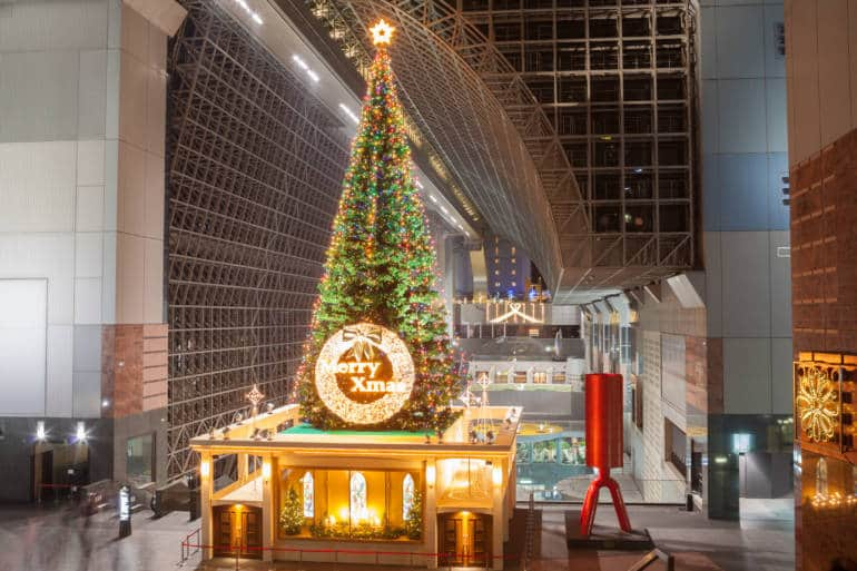 Kyoto station christmas tree
