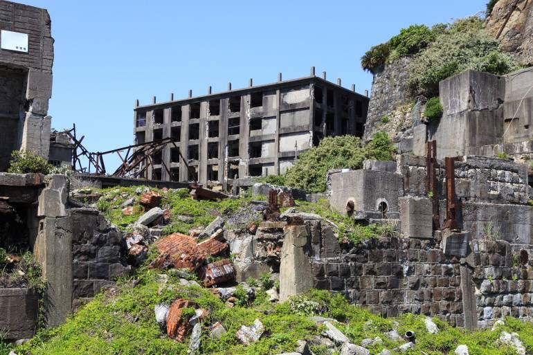 Ruins in Gunkamjima