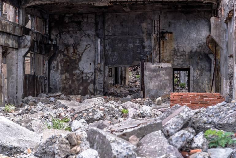 Ruins on Battleship Island