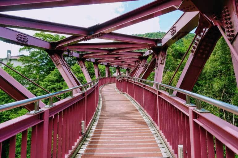 Ayatori Bridge Yamanaka Onsen