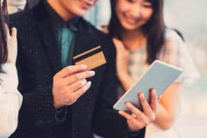 shopping with a credit card japan