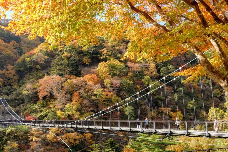 Nikko National Park - Kinu-Tateiwa-Otsuribashi-Bridge