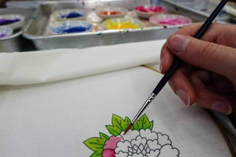 Silk Painting Kanazawa crafts