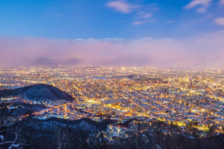 Mount moiwa sapporo nightview