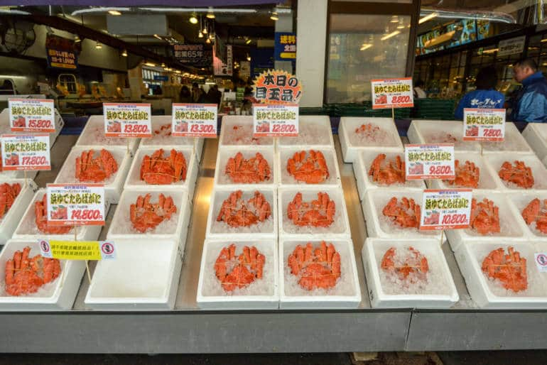 Nijo Fish Market snow crabs