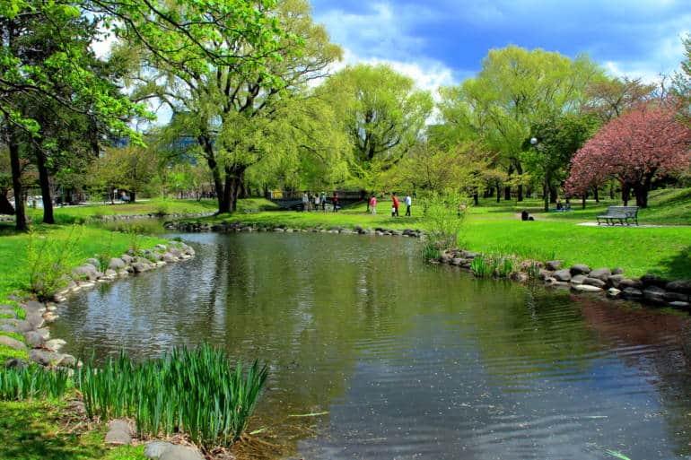 summer at nakajima park in sapporo