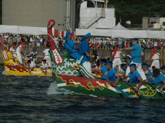 Dragon boat races in Naha