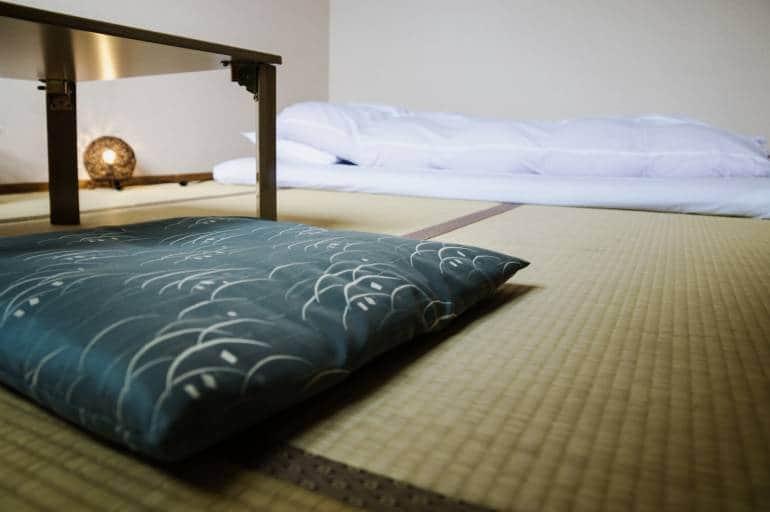 Futon and Tatami ryokan