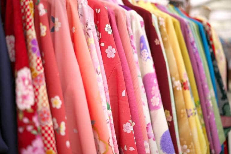 Kanazawa kimono rental selection