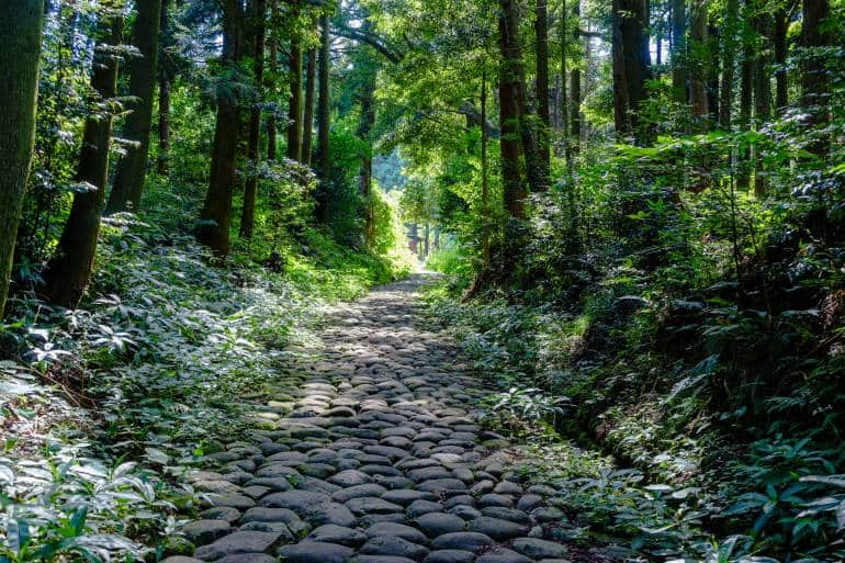 cobblestones of Tokaido Route