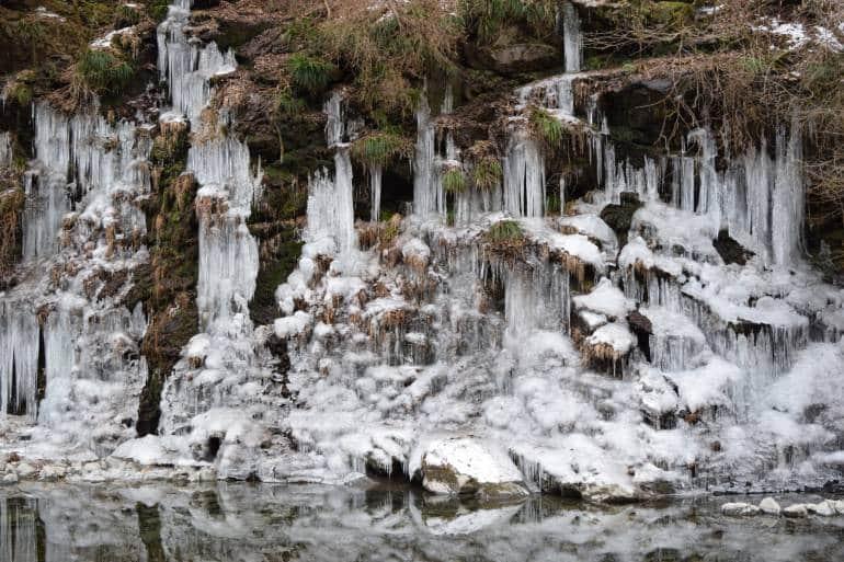 Misotsuchi icicles in Chichibu