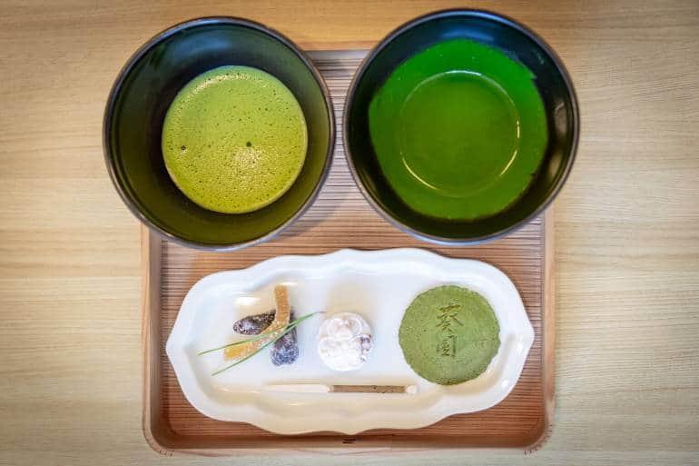usuicha and koicha matcha in aichi