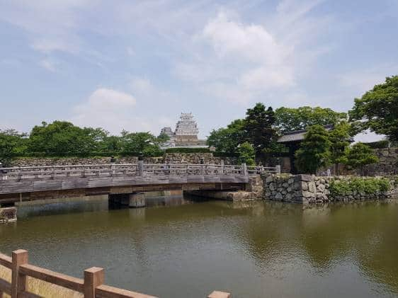 The bridge leading to Himeji Castle Park