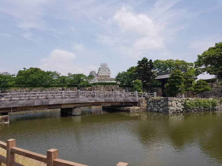 The bridge leading to the park