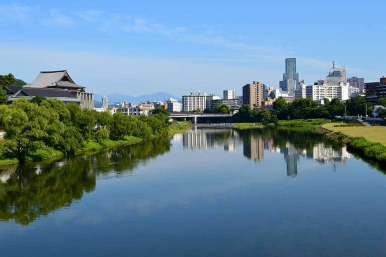 Sendai city and Hirose River, tohoku travel