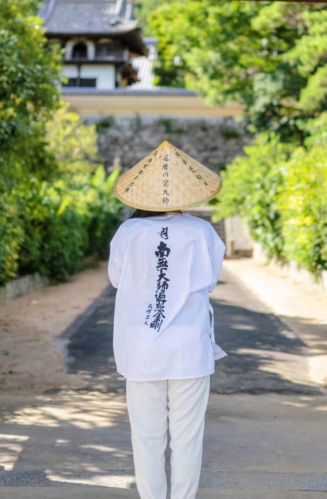 Japanese Buddhist traveling in Shikoku