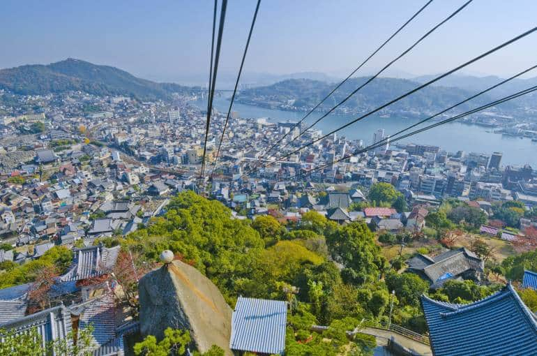 View of Onomichi, starting city for the Shimanami Kaido route