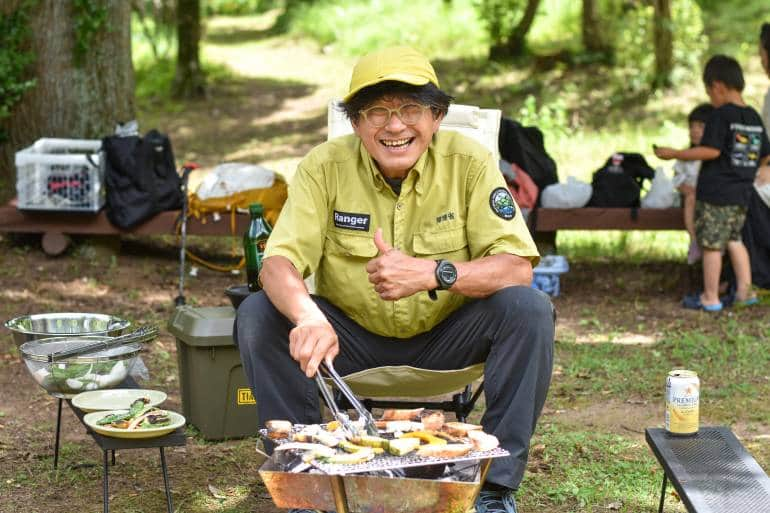 camping with bbq