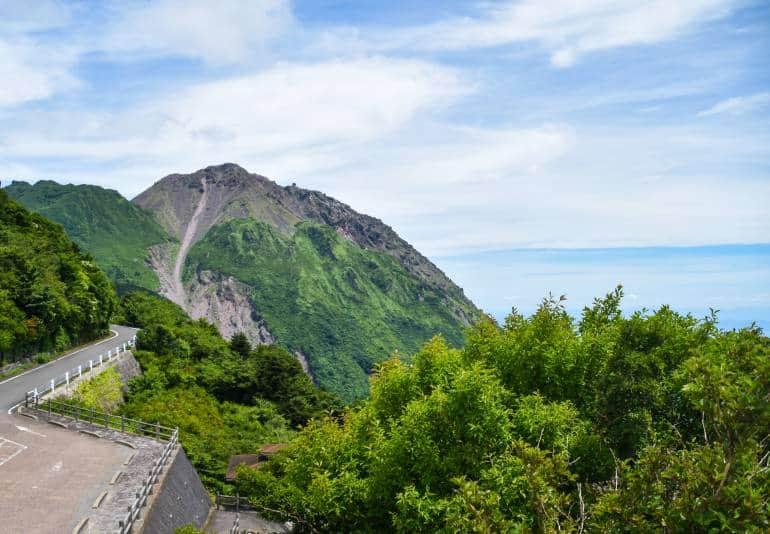 Mount Fugen in summer
