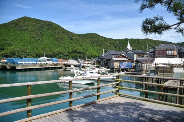 Sakitsu Village port view