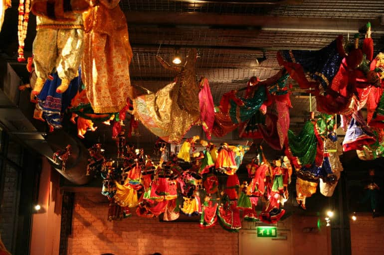 The beautiful decor at Masala Zone Covent Garden