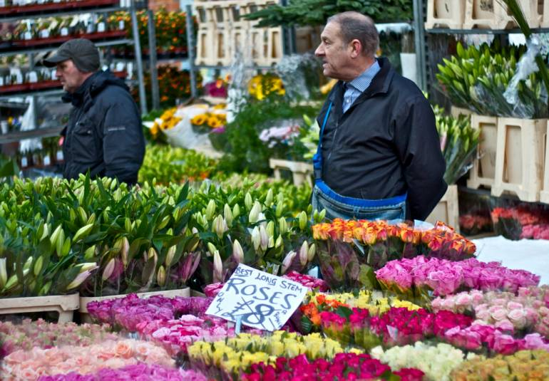 The colourful Columbia Road Flower Market is pleasant to stroll through