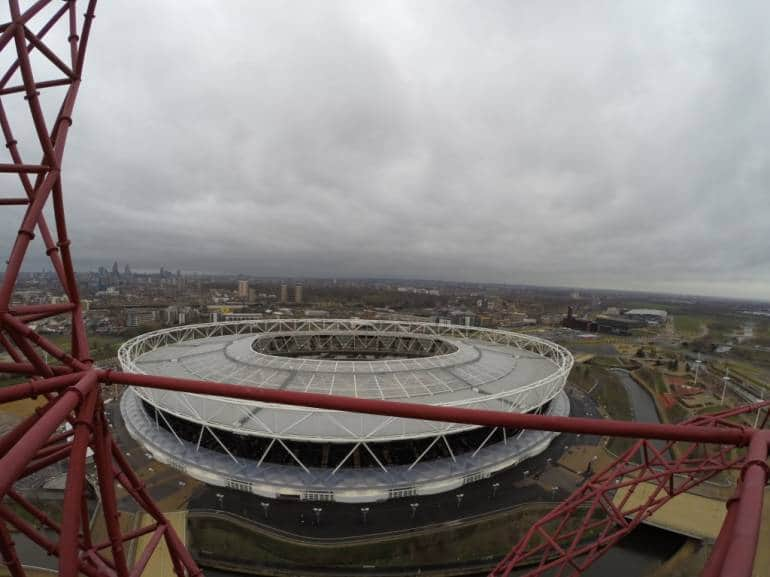 View of the Olympic Stadium, from the Orbit looking North West