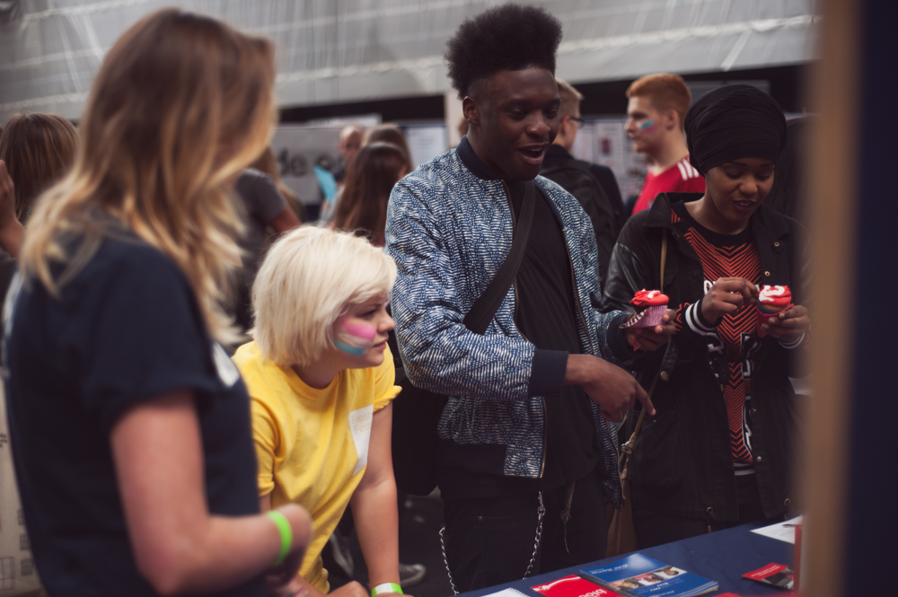 students at a freshers' fair