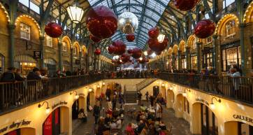 Covent Garden Market at Christmas