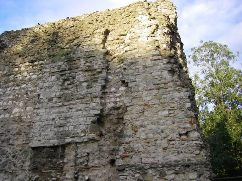 fragment of the London Roman Wall London Historic Sights
