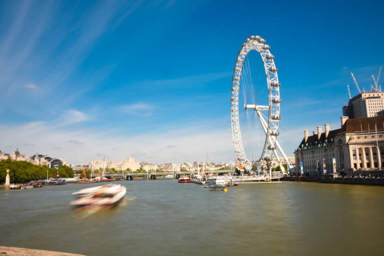 London Eye by boat