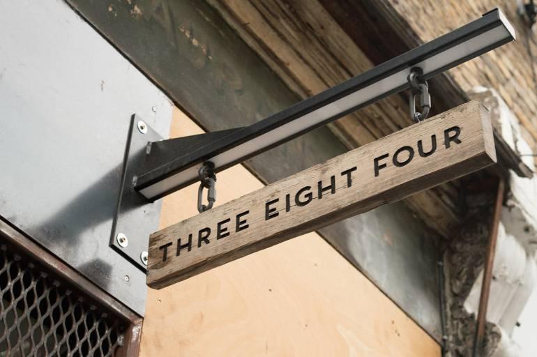 Three Eight Four bar in London