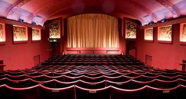 Seats in an art deco auditorium
