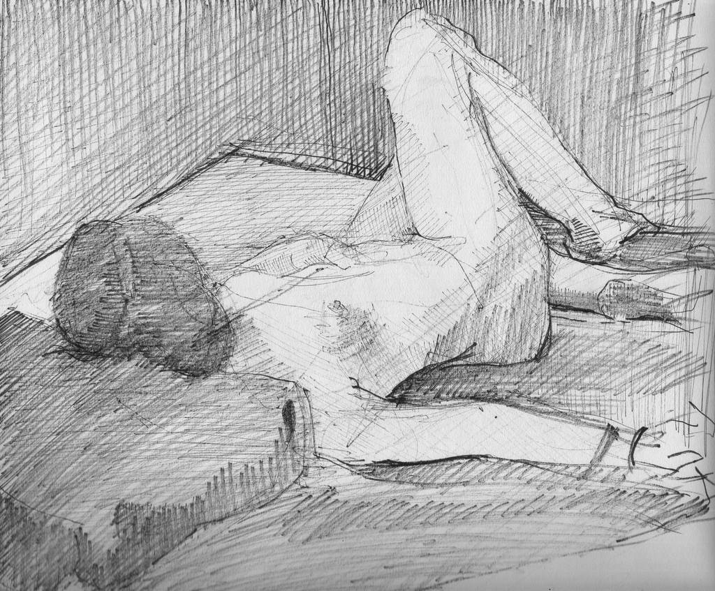 Sketch of an artists' model