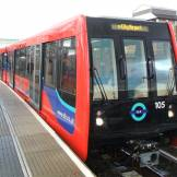 Docklands Light Railway in a station