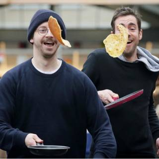 The Flippin' Good Fun Pancake Race