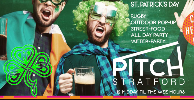 Event poster for a St Patrick's Day party