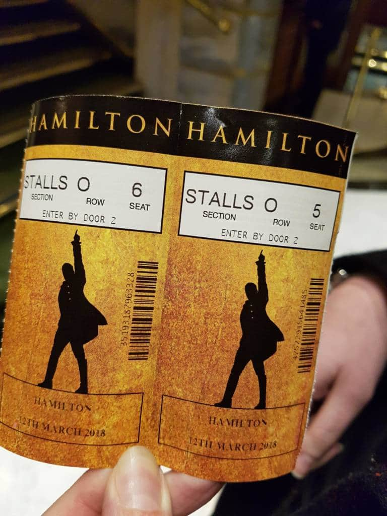 hamilton tickets london