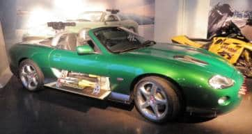 sports car in an exhibtion